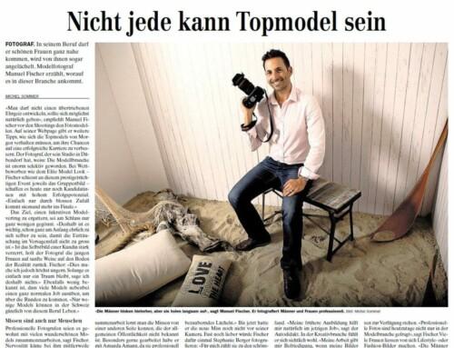 Zeitungsartikel: Fotograf Manuel Fischer übers Modelbusiness