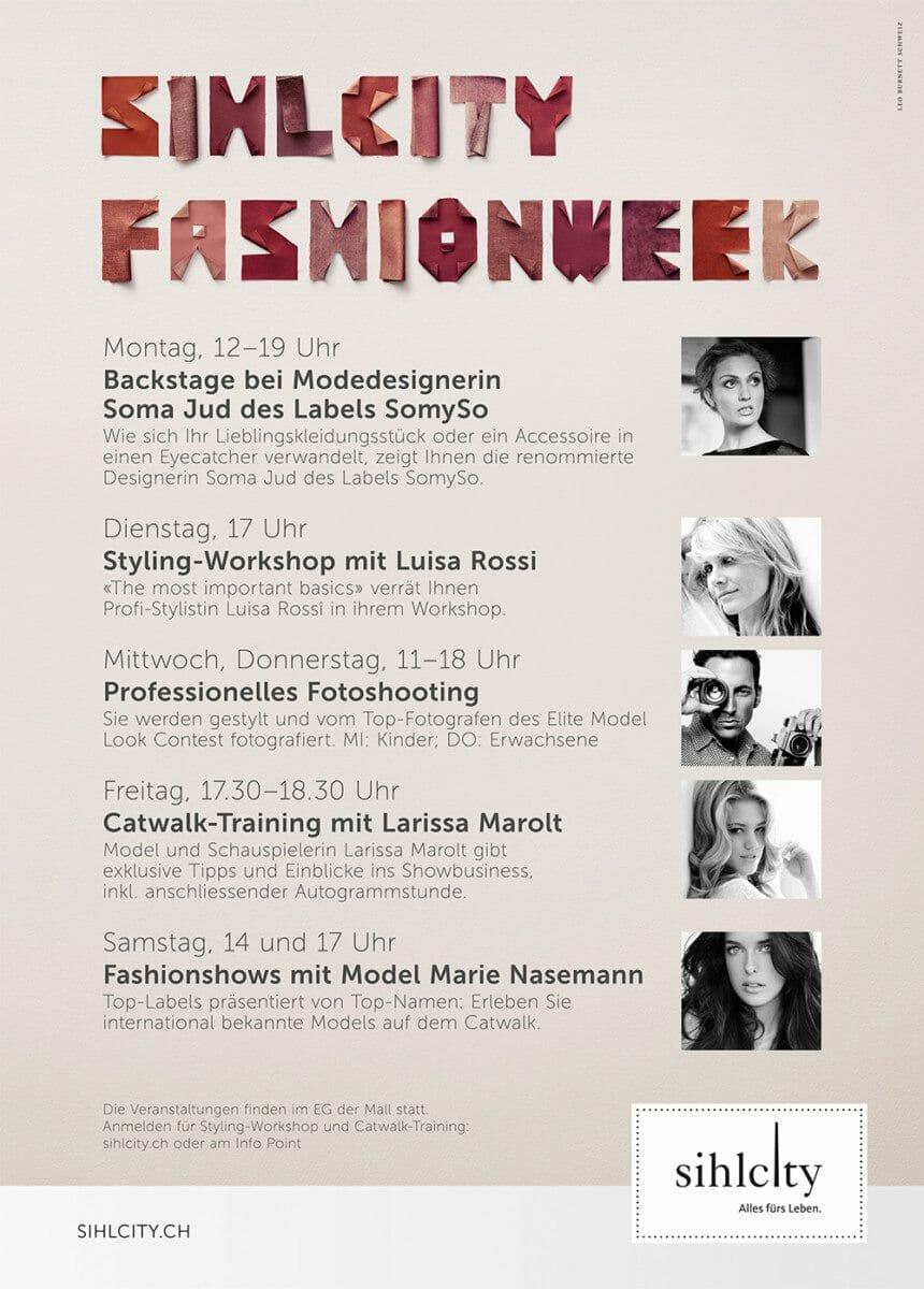 Sihlcity Fashion week Flyer