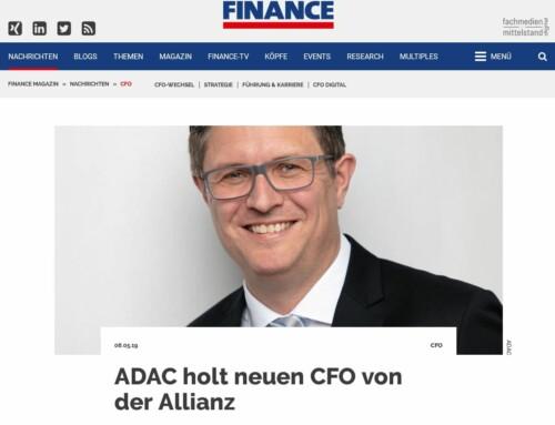 Portrait Fotoshooting mit neuem CFO vom ADAC